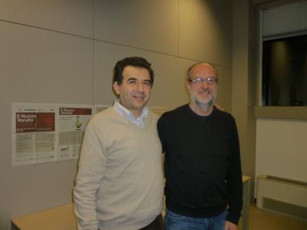 Claudio Gramaglia con Francesco Peraro